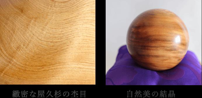 緻密な屋久杉の杢目、自然美の結晶